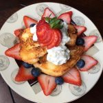 Grilled Angel Food Cake with Maple Whipped Cream
