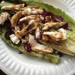 "Oven ""Grilled"" Romaine with Roasted Chicken Salad"