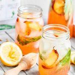 Refreshing Peach Basil Wine Spritzer