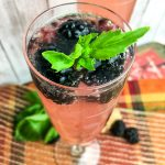 Sparkling Blackberry Basil Cocktail