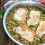 Boneless Pork Chops with Wild Rice Pilaf